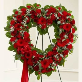 Red Wreath of Blooms