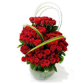 Изобилие из 125 Красных Роз