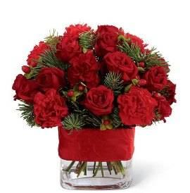 27 Red Flowers in Vase