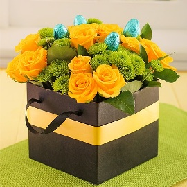 Easter Box of Yellow Roses