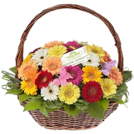 Flower basket «Bright Memories»