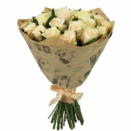 Birthday Wrapped Roses
