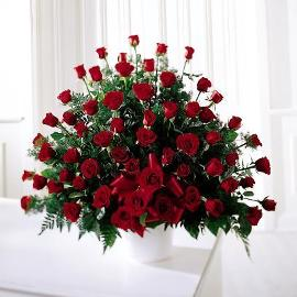 Sympathy Basket of 150 Roses