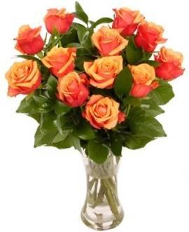 Связка из 15 Персиковых Роз