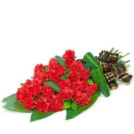 Red Carnation Sympathy Bouquet