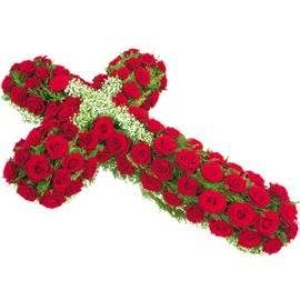 Sympathy Red Cross Wreath