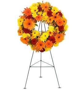 Round Sympathy Wreath