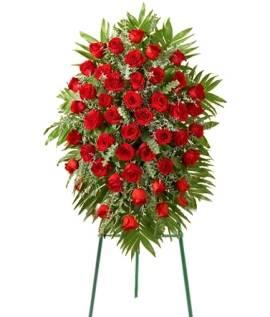 Похоронный Венок из 120 Красных Роз