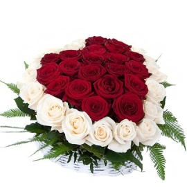 Deluxe Heart of 55 Roses