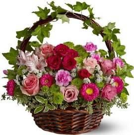 Victorian Flower Garden Basket