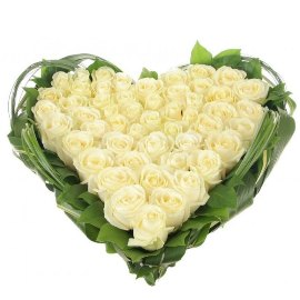 Dreams of My Heart with White Roses