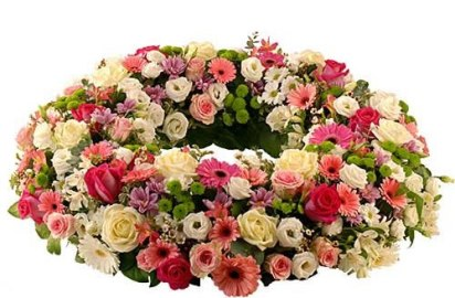Wreath of Mixed Flowers