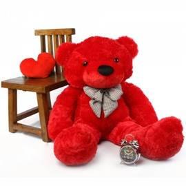 Red Fluffy bear
