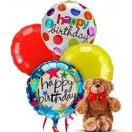 Soft Bear & Birthday Balloons